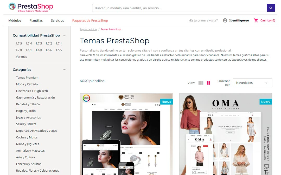 Theme Plantillas Prestashop