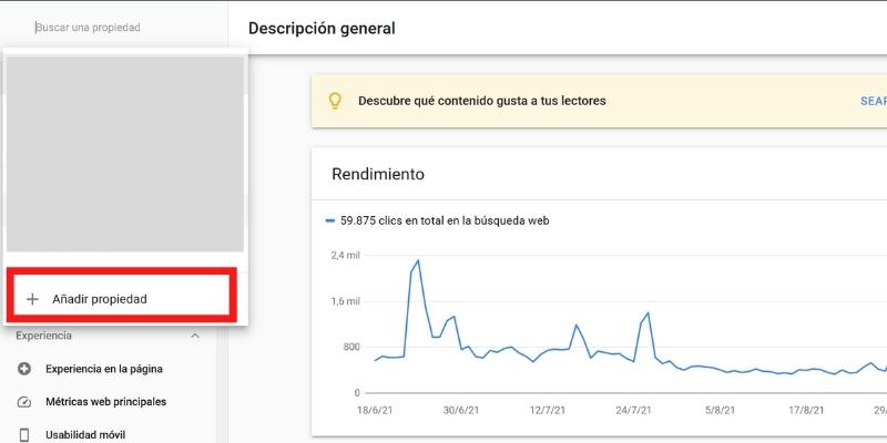 Añadir Propiedad En Google Search Console